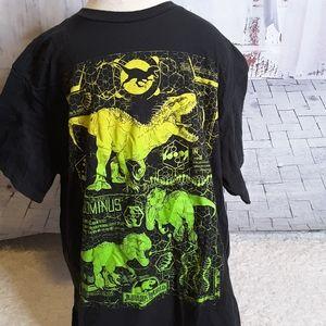 3/$15 Jurassic World dinosaur black tee shirt sz L